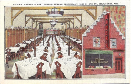 Milwaukee, WI - Mader's German Restaurant Dining Room