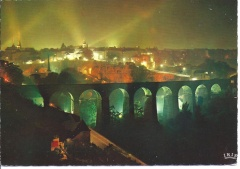 Luxemburg - Clausen Viaduct Illumintated