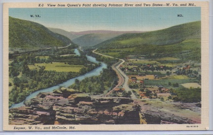 Allegany County, MD - Queens Point and Potomac River