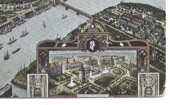 Bird's Eye View of Mannheim - Inset