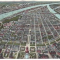 Panoramic of Mannheim & Rivers with Flower Inset 600 dpi
