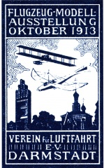 Poster 1913 Model Airplane Exhibit Darmstadt