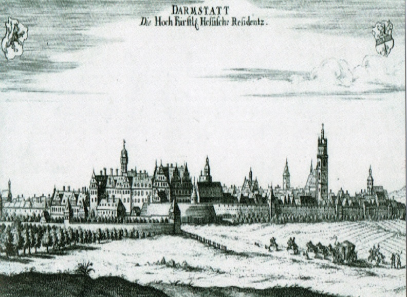 Darmstadt - City View ca 1626