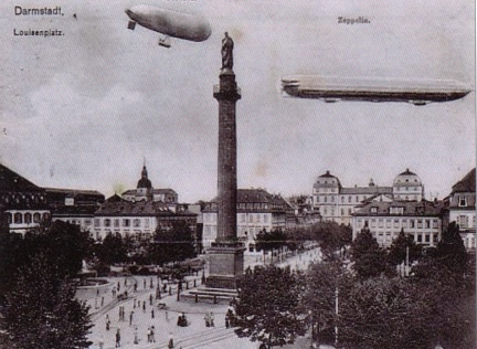 Darmstadt - Louisenplatz with Airships