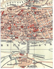 Mainz - Map ca 1905