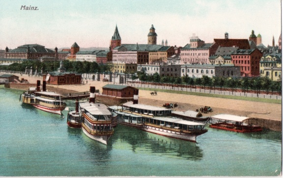 Mainz - Ships at River Dock