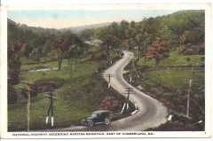 Allegany County, MD - National Highway Ascending Martins Mountain East of Cumberland
