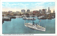 Baltimore, MD - Harbor Showing Excursion Boats